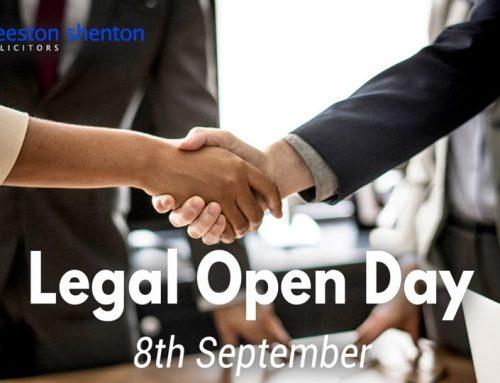 Come Along to the Beeston Shenton Legal Open Day 8th September